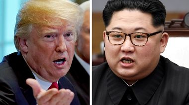 U.S. President Donald Trump and Nord-Koreas leder Kim Jong-un.                       (Foto: Kevin Lamarque/Reuters og  Korea Summit Press Pool)
