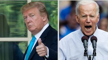 FILE - In this Saturday, May 18, 2019 file photo, Democratic presidential candidate, former Vice President Joe Biden speaks during a campaign rally at Eakins Oval in Philadelphia. North Korea on Wednesday, May 22, 2019, labeled Biden a