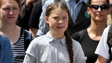 Swedish climate activist Greta Thunberg takes part in the school strike demonstration Fridays for future in Vienna, Austria, Friday, May 31, 2019. (AP Photo/Ronald Zak)                       (Foto: Ronald Zak)