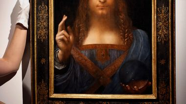 FILE- This Oct. 24, 2017, file photo shows Leonardo da Vinci's
