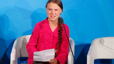 Environmental activist Greta Thunberg, of Sweden, addresses the Climate Action Summit in the United Nations General Assembly, at U.N. headquarters, Monday, Sept. 23, 2019. (AP Photo/Jason DeCrow)                       (Foto: Jason DeCrow)