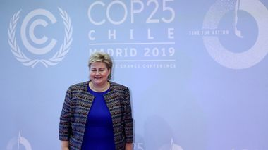 Norway's Prime Minister Erna Solberg arrives to attend the U.N. climate change conference (COP25) in Madrid, Spain, December 2, 2019. REUTERS/Sergio Perez                       (Foto: SERGIO PEREZ)