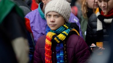 FILE PHOTO: Swedish climate activist Greta Thunberg takes part in the rally ''Europe Climate Strike'' in Brussels, Belgium, March 6, 2020. REUTERS/Johanna Geron/File Photo                      (Foto: Johanna Geron)