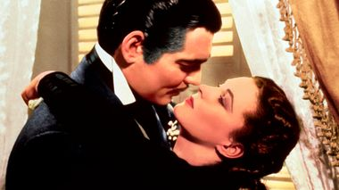 This image released by Turner Classic Movies shows Clark Gable, left, and Vivien Leigh in a scene from