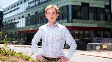 In this handout photo released by the University of Oxford Dr. Adrian Hill, Director of the Jenner Institute at Oxford University, poses for a photo in Oxford, England on Thursday June 25, 2020. Scientists at Oxford University say their experimental coronavirus vaccine has been shown in an early trial to prompt a protective immune response in hundreds of people who got the shot.