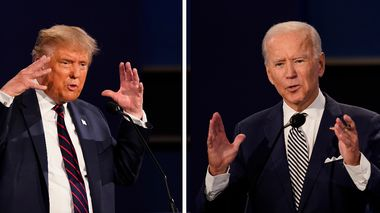 FILE - This combination of Sept. 29, 2020, file photos show President Donald Trump, left, and former Vice President Joe Biden during the first presidential debate at Case Western University and Cleveland Clinic, in Cleveland, Ohio. The Commission on Presidential Debates says the second Trump-Biden debate will be virtual amid concerns about the president's COVID-19. (AP Photo/Patrick Semansky, File)                       (Foto: Patrick Semansky)