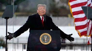 President Donald Trump speaks at a rally Wednesday, Jan. 6, 2021, in Washington. (AP Photo/Jacquelyn Martin) Washington                       (Foto: Jacquelyn Martin Scanpix)
