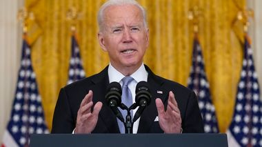 President Joe Biden speaks about Afghanistan from the East Room of the White House, Monday, Aug. 16, 2021, in Washington. (AP Photo/Evan Vucci)                      (Foto: Evan Vucci)