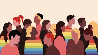 A group of people of different nationalities and orientations in a flat style. Lgbt concept and tolerance. Vector stock illustration.                      (Foto: User)
