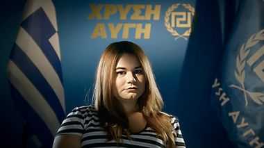 Ourania Michaloliakou er datter av partilederen i Golden Dawn.                       (Foto: Storytelling Media)