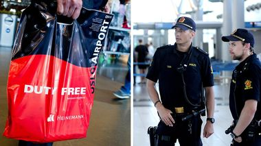 Flypassasjerer som drikker av den medbrakte taxfree-beholdningen utgjør oftere en flysikkerhetsrisiko enn de som kun drikker det de får servert om bord, mener The International Air Transport Association.                       (Foto: NTBscanpix/Frank Cadamarteri)